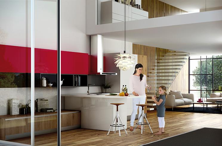 El atractivo de la barra americana en una cocina - Cocinas con barra americana modernas ...