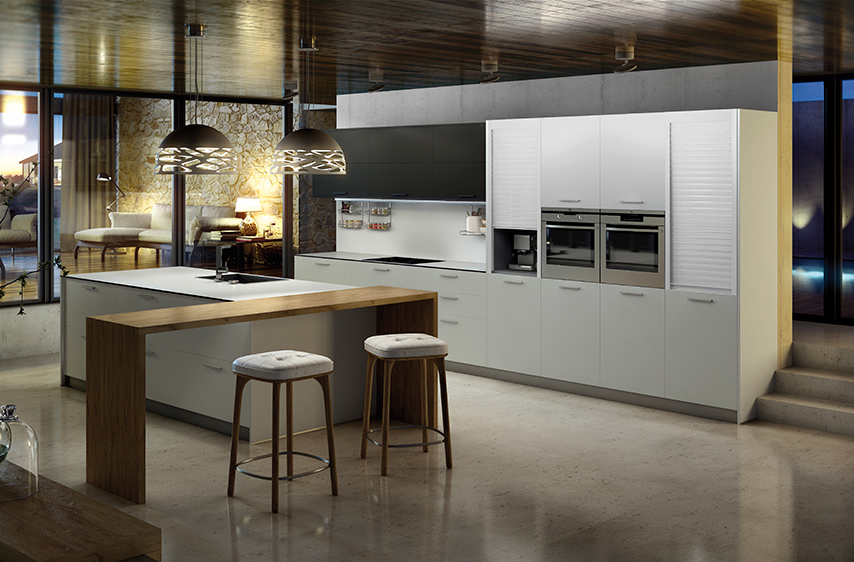 El atractivo de la barra americana en una cocina - Cocinas modernas con barra ...
