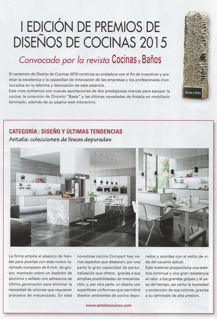 Antalia en los premios de dise os de cocinas for Articulos para banos y cocinas