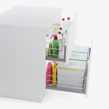 Conjunto para fregaderos y contenedores ecológicos