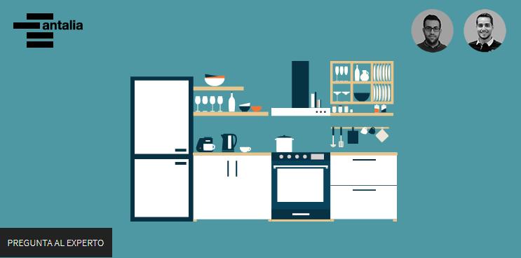 Organización de elementos y distancias en la cocina