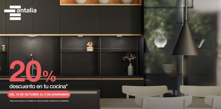 Disfruta del 20% de descuento en el mobiliario de tu cocina antalia