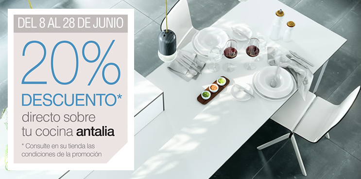 ¡En Junio tu cocina antalia un 20% más barata!