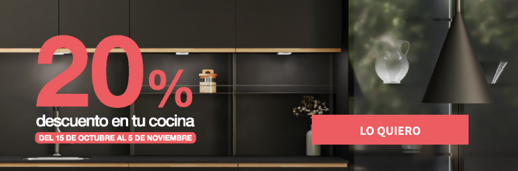 20% de descuento en tu mobiliario de cocina antalia, hasta el 5 de noviembre