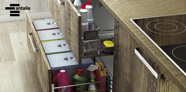 Diseños para el reciclaje en la cocina