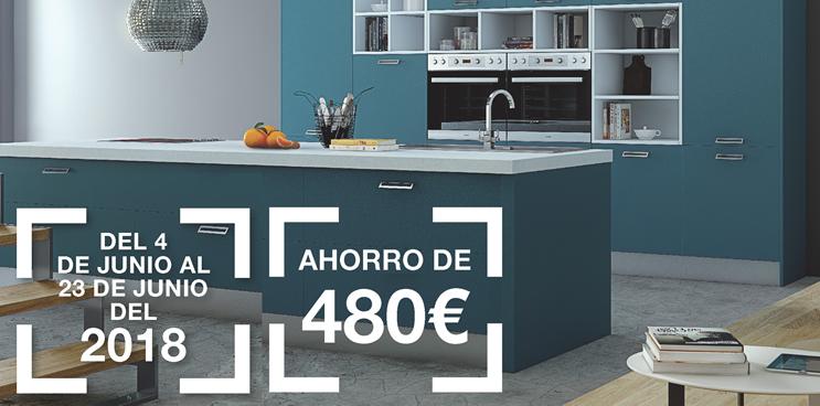 ¿Quieres ahorrarte 480 euros en tu cocina Antalia más electrodomésticos?