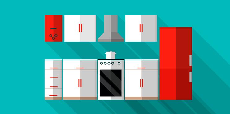 Cómo aprovechar el espacio en una cocina pequeña: ¡Tetris!